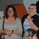 Look at the glee on my agent Linda and my girlfriend Melissa's faces. What are they laughing at?!