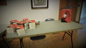 The selling/signing table